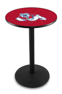 Fresno State L214 - Black Wrinkle Pub Table by Holland Bar Stool Co.