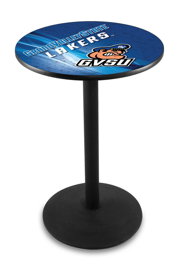 Grand Valley State L214 - Black Wrinkle Pub Table by Holland Bar Stool Co.
