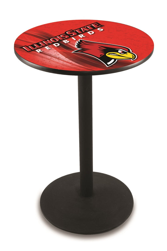 Illinois State L214 - Black Wrinkle Pub Table by Holland Bar Stool Co.