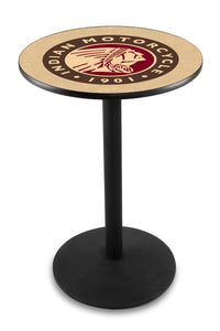 Indian Motorcycle L214 - Black Wrinkle Pub Table by Holland Bar Stool Co.