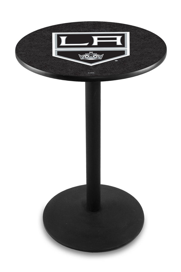 Los Angeles Kings L214 - Black Wrinkle Pub Table by Holland Bar Stool Co.