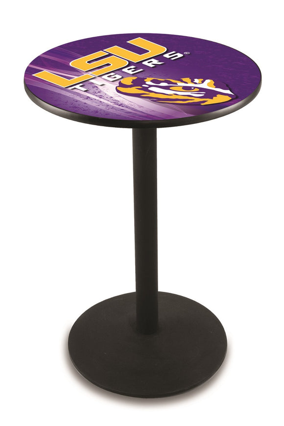 Louisiana State L214 - Black Wrinkle Pub Table by Holland Bar Stool Co.