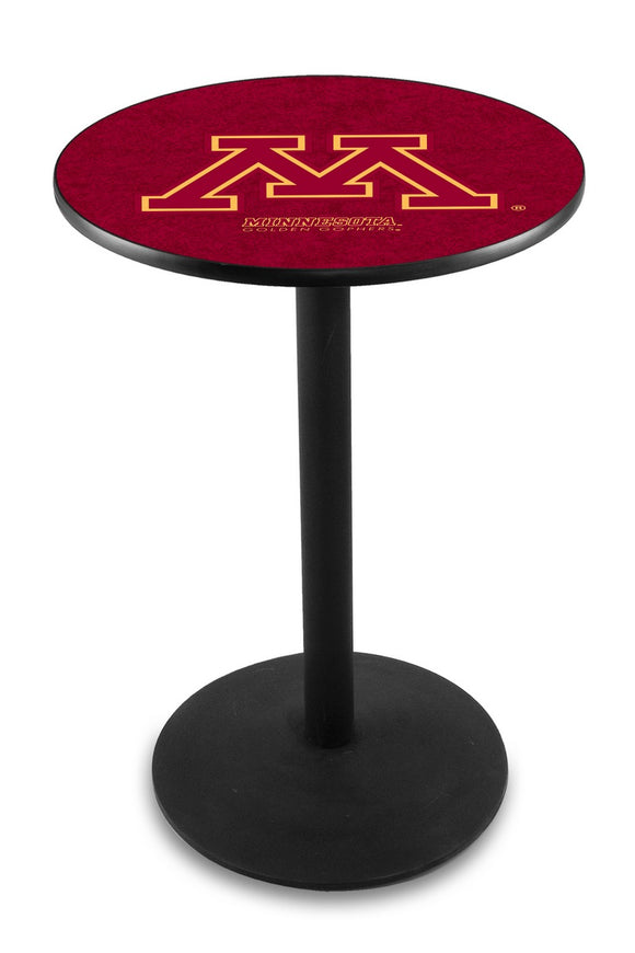 Minnesota L214 - Black Wrinkle Pub Table by Holland Bar Stool Co.