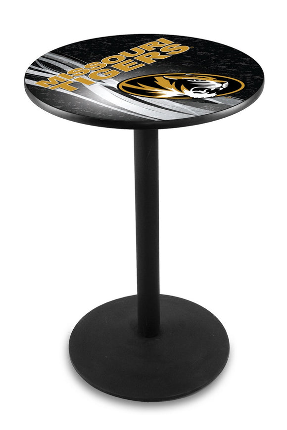 Missouri L214 - Black Wrinkle Pub Table by Holland Bar Stool Co.