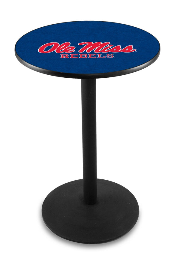 Mississippi L214 - Black Wrinkle Pub Table by Holland Bar Stool Co.