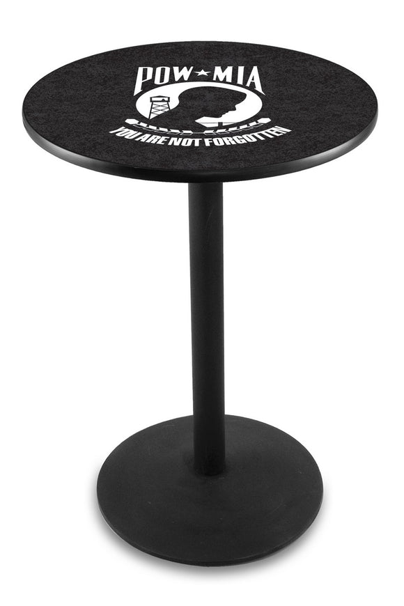 POW/MIA L214 - Black Wrinkle Pub Table by Holland Bar Stool Co.