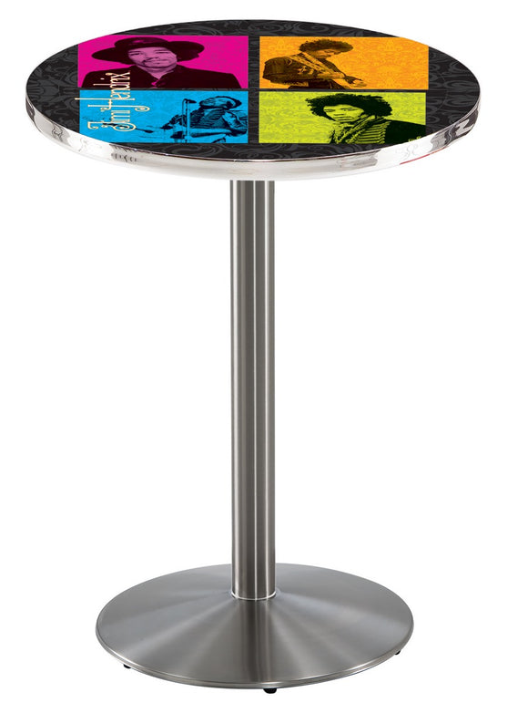 Jimi Hendrix (4 Square) L214 - Stainless Steel Pub Table by Holland Bar Stool Co.