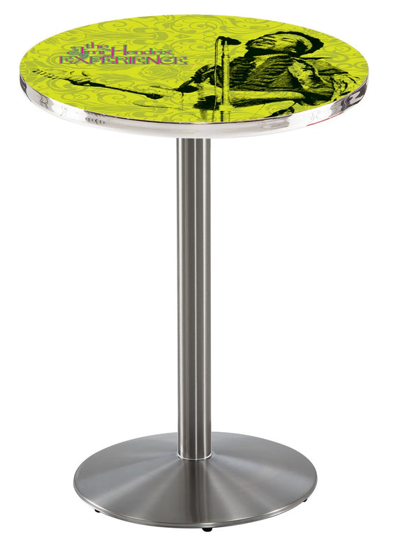 Jimi Hendrix - JHE (Green) L214 - Stainless Steel Pub Table by Holland Bar Stool Co.