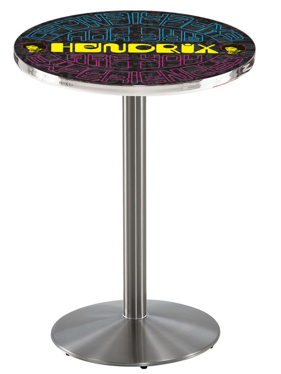 Jimi Hendrix - AYE (Mirrored) L214 - Stainless Steel Pub Table by Holland Bar Stool Co.
