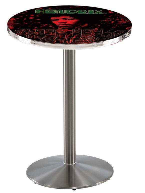 Jimi Hendrix - AYE (Red) L214 - Stainless Steel Pub Table by Holland Bar Stool Co.