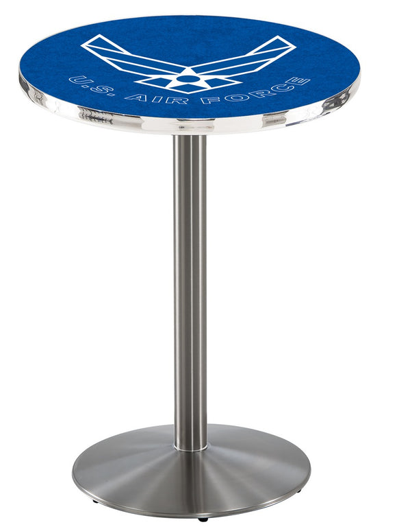 U.S. Air Force L214 - Stainless Steel Pub Table by Holland Bar Stool Co.