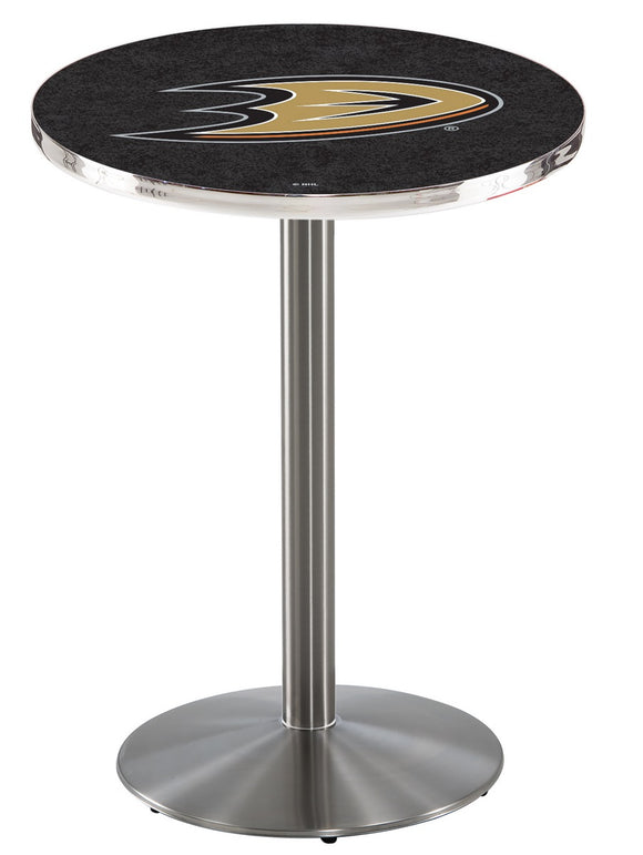 Anaheim Ducks L214 - Stainless Steel Pub Table by Holland Bar Stool Co.