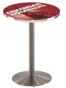 Arkansas L214 - Stainless Steel Pub Table by Holland Bar Stool Co.
