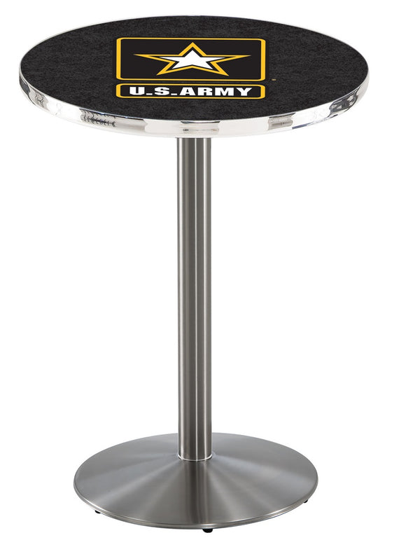 U.S. Army L214 - Stainless Steel Pub Table by Holland Bar Stool Co.