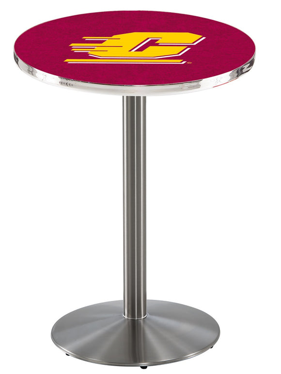 Central Michigan L214 - Stainless Steel Pub Table by Holland Bar Stool Co.