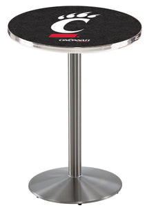 Cincinnati L214 - Stainless Steel Pub Table by Holland Bar Stool Co.