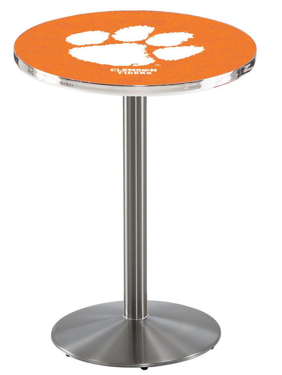 Clemson L214 - Stainless Steel Pub Table by Holland Bar Stool Co.