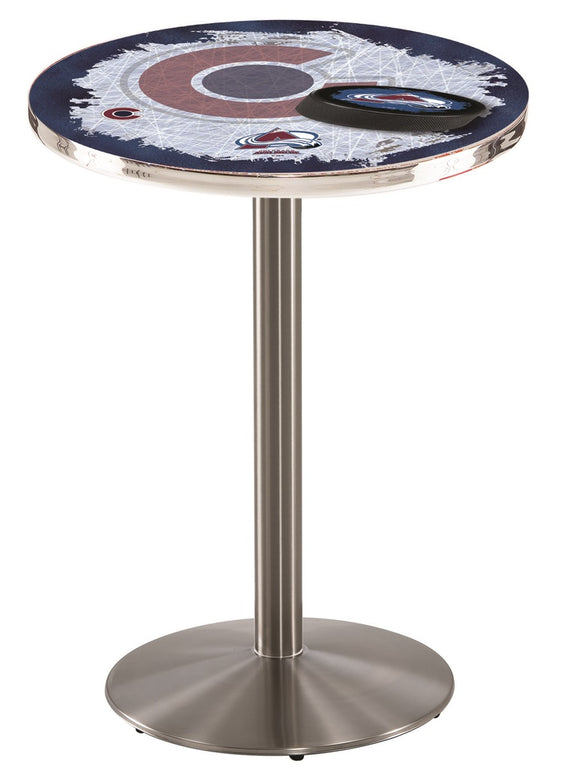 Colorado Avalanche L214 - Stainless Steel Pub Table by Holland Bar Stool Co.