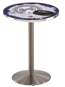 Columbus Blue Jackets L214 - Stainless Steel Pub Table by Holland Bar Stool Co.
