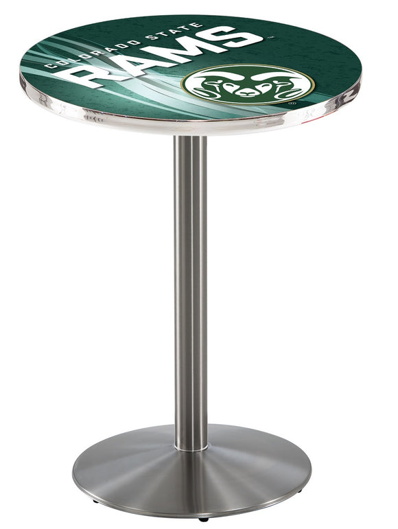 Colorado State L214 - Stainless Steel Pub Table by Holland Bar Stool Co.