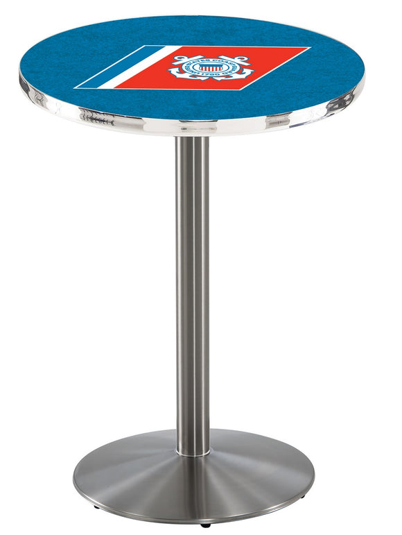 U.S. Coast Guard L214 - Stainless Steel Pub Table by Holland Bar Stool Co.
