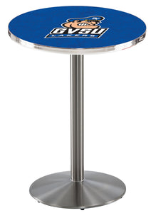 Grand Valley State L214 - Stainless Steel Pub Table by Holland Bar Stool Co.