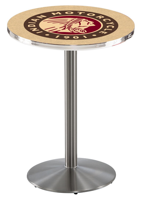 Indian Motorcycyle L214 - Stainless Steel Pub Table by Holland Bar Stool Co.