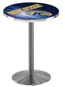 Kent State L214 - Stainless Steel Pub Table by Holland Bar Stool Co.