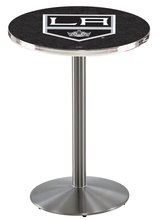 Los Angeles Kings L214 - Stainless Steel Pub Table by Holland Bar Stool Co.