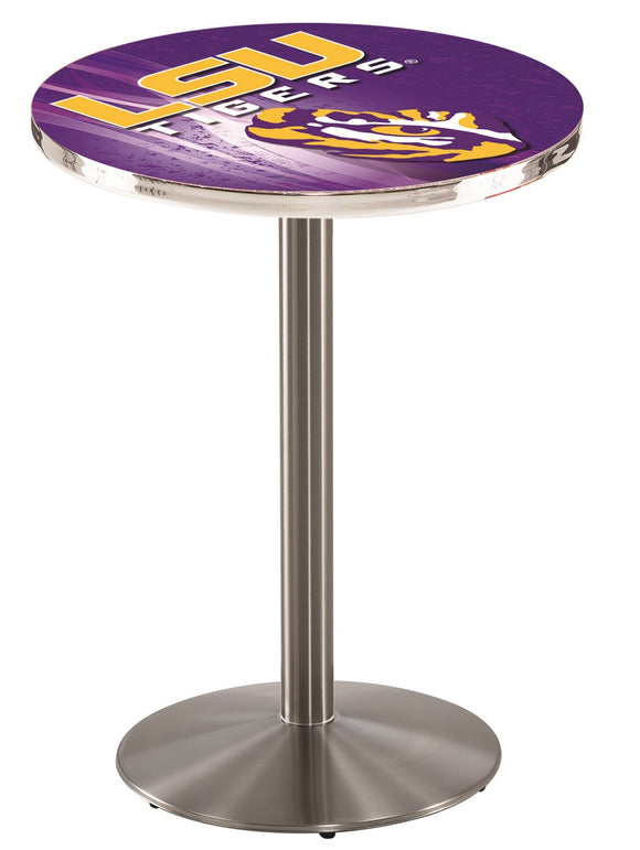 Louisiana State L214 - Stainless Steel Pub Table by Holland Bar Stool Co.