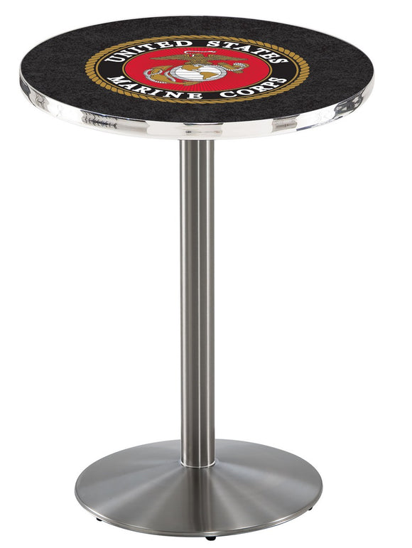 U.S. Marines L214 - Stainless Steel Pub Table by Holland Bar Stool Co.