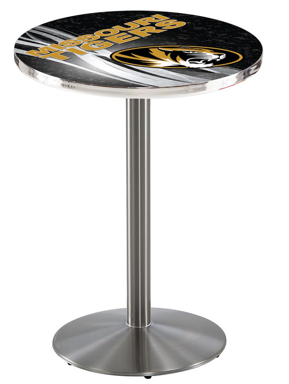 Missouri L214 - Stainless Steel Pub Table by Holland Bar Stool Co.