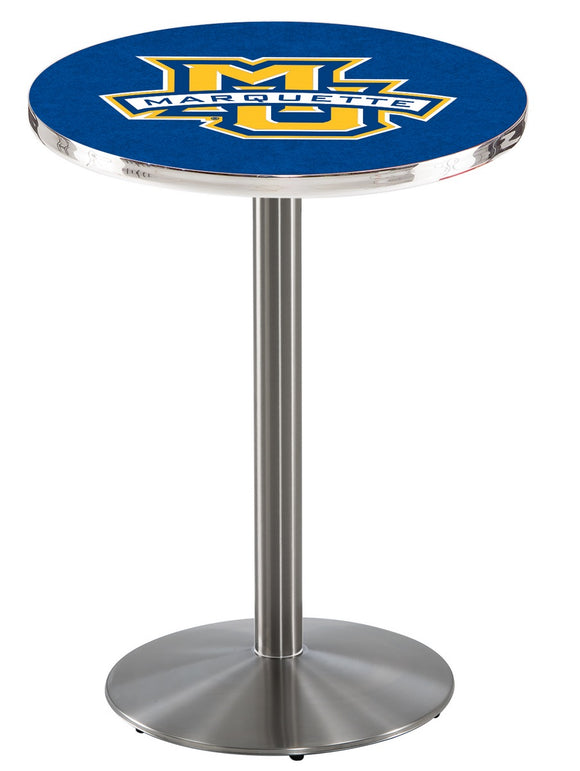 Marquette L214 - Stainless Steel Pub Table by Holland Bar Stool Co.