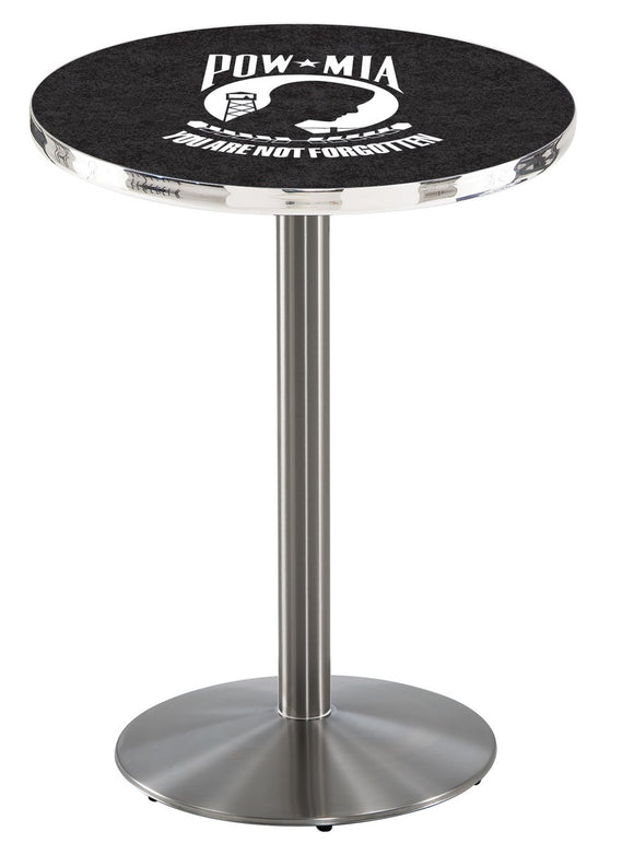 POW/MIA L214 - Stainless Steel Pub Table by Holland Bar Stool Co.