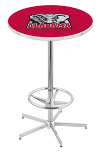 "Alabama (Elephant) L216 - 42"" Chrome Pub Table by Holland Bar Stool Co."