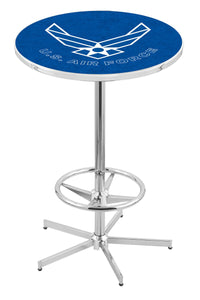 "U.S. Air Force L216 - 42"" Chrome Pub Table by Holland Bar Stool Co."