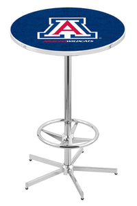 "Arizona L216 - 42"" Chrome Pub Table by Holland Bar Stool Co."