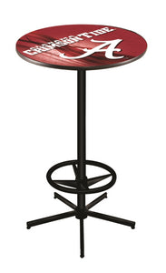 "Alabama (""A"") L216 - 42"" Black Pub Table by Holland Bar Stool Co."
