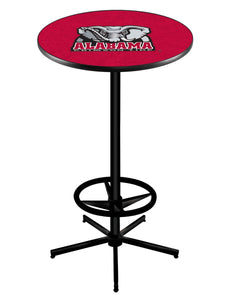 "Alabama (Elephant) L216 - 42"" Black Pub Table by Holland Bar Stool Co."