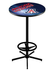 "Arizona L216 - 42"" Black Pub Table by Holland Bar Stool Co."