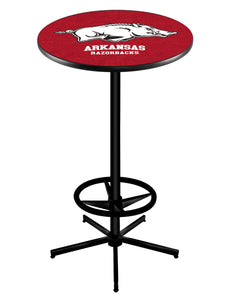 "Arkansas L216 - 42"" Black Pub Table by Holland Bar Stool Co."