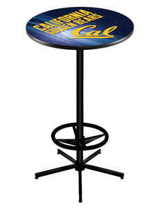 "California L216 - 42"" Black Pub Table by Holland Bar Stool Co."
