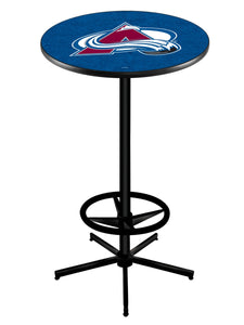 "Colorado Avalanche L216 - 42"" Black Pub Table by Holland Bar Stool Co."