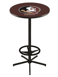 "Florida State (Head) L216 - 42"" Black Pub Table by Holland Bar Stool Co."