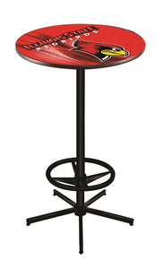 "Illinois State L216 - 42"" Black Pub Table by Holland Bar Stool Co."