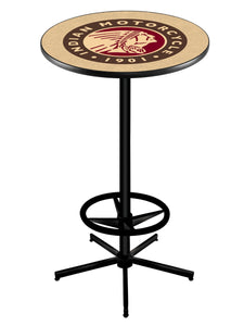 "Indian Motorcycle L216 - 42"" Black Pub Table by Holland Bar Stool Co."