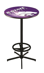 "Kansas State L216 - 42"" Black Pub Table by Holland Bar Stool Co."