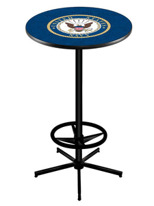 "U.S. Navy L216 - 42"" Black Pub Table by Holland Bar Stool Co."