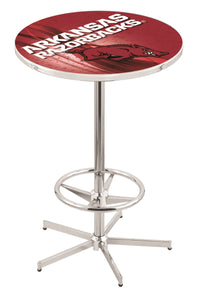 "Arkansas L216 - 42"" Chrome Pub Table by Holland Bar Stool Co."