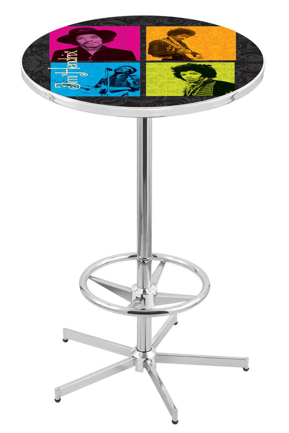 Jimi Hendrix (4 Square) L216 - Chrome Pub Table by Holland Bar Stool Co.